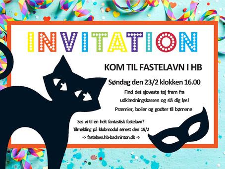 Kom til Fastelavn i Hillerød badmintonklub