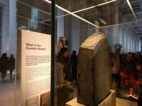 British Museum Visit on 23.02.2019. Report by Roberta Calisti, B2 Student from Italy.