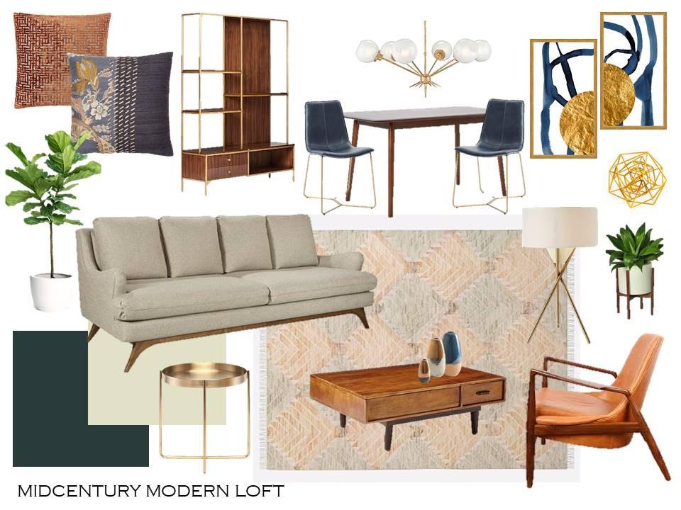 Mid Century Modern Style Board