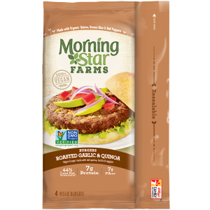 MorningStar Farms Roasted Garlic & Quinoa Burgers