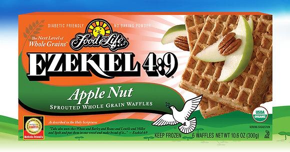 Ezekiel 4:9 ® Organic Sprouted Grain Apple Nut Waffles
