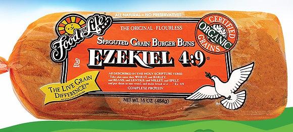 Ezekiel 4:9 Organic Sprouted Whole Grain Burger Buns