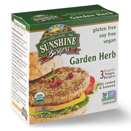 Sunshine Organic Burgers – Garden Herb