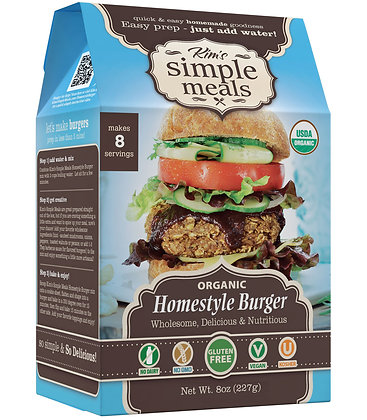 Kim's Simple Meals Organic Home Style Burger