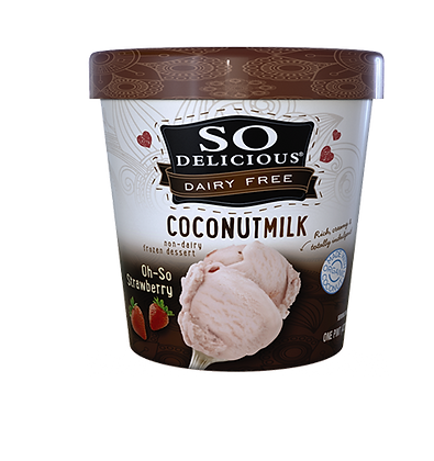 So Delicious Coconut Milk Ice Cream (Oh so Strawberry)