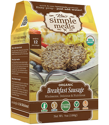Kim's Simple Meals Organic Breakfast Sausage