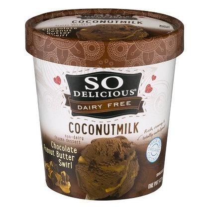 So Delicious Coconut Milk Ice Cream (Chocolate Peanut Butter Swirl)
