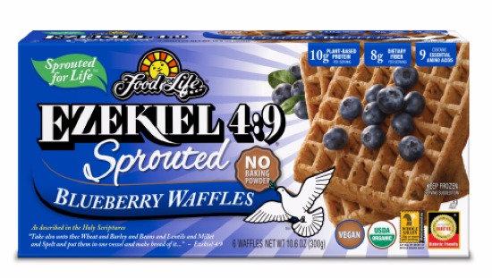 Ezekiel 4:9 ® Organic Sprouted Grain Blueberry Waffles