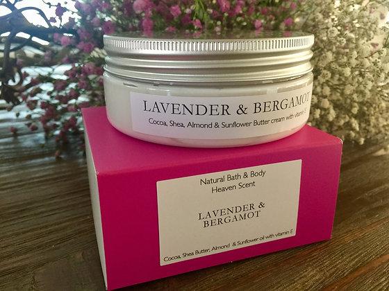 Shea Butter Body Cream - Lavender & Bergamot