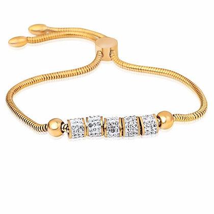 Gouden armband met zirconia