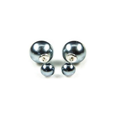 Trendy double dot oorbellen