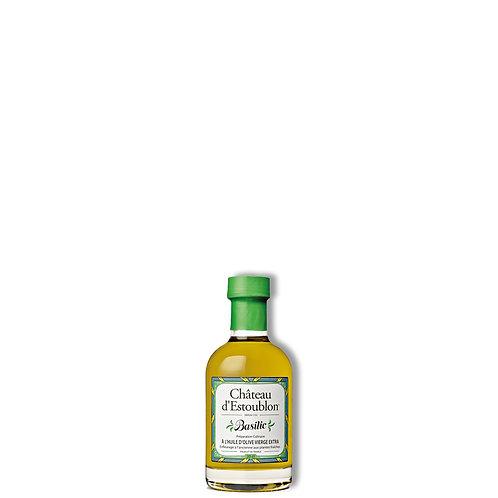 Huile d'olive aromatisée au basilic 200 ml.