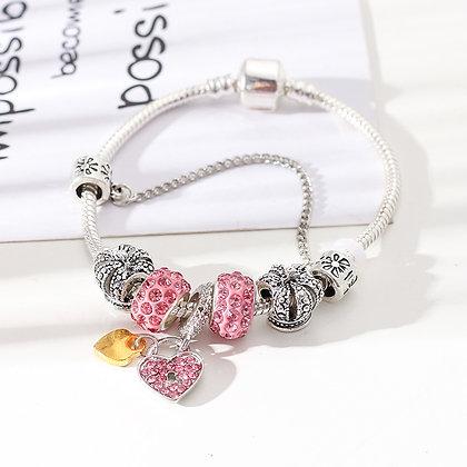 Trendy armband met rose beads - Little Heart