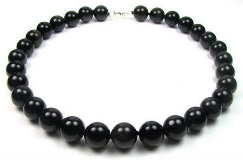 Collier van Obsidian - 12 mm