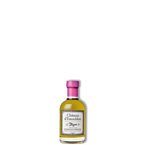 Huile d'olive aromatisée au thym 200 ml.