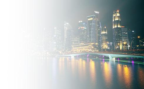 City-night-skyscrapers-lights-bridge-bay