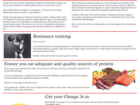 Life magazine June, protecting your muscle for life!