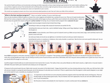 Life magazine July, Fitness FAQ.
