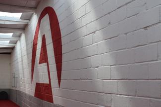 Wall logo handpainted