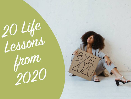 20 Lessons Learned from 2020