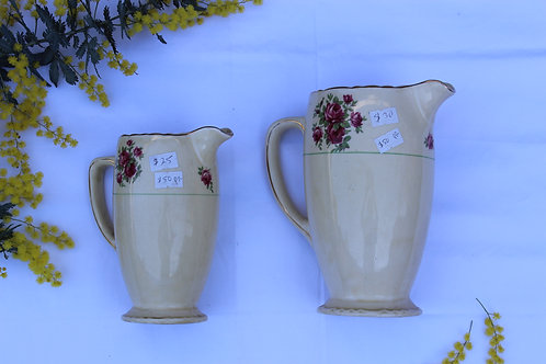 Royal Staffordshire Pottery Jugs X2