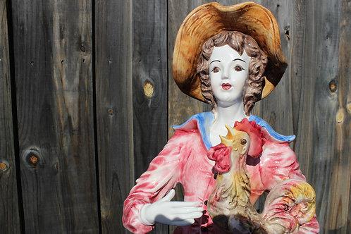 Capodimonte  Italian Porcelain Statue
