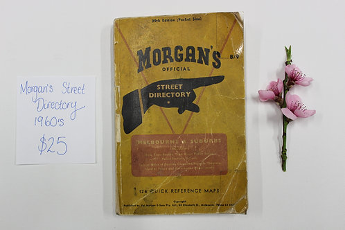 Morgan's Official Street Directory - 1960's Melbourne
