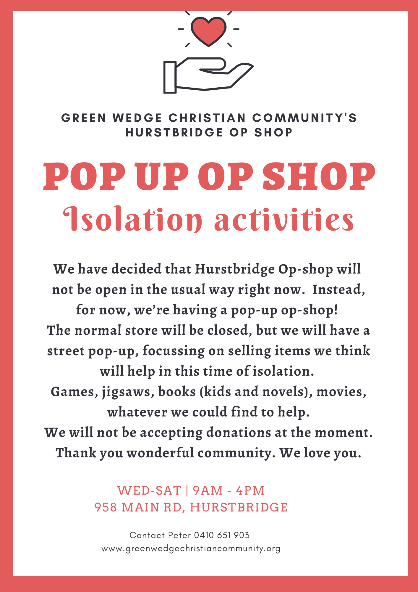Pop-up Op-Shop