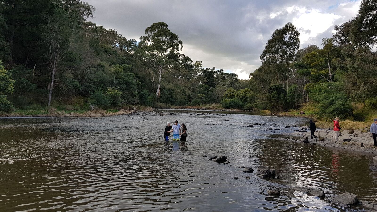 Baptism in Warrandyte River