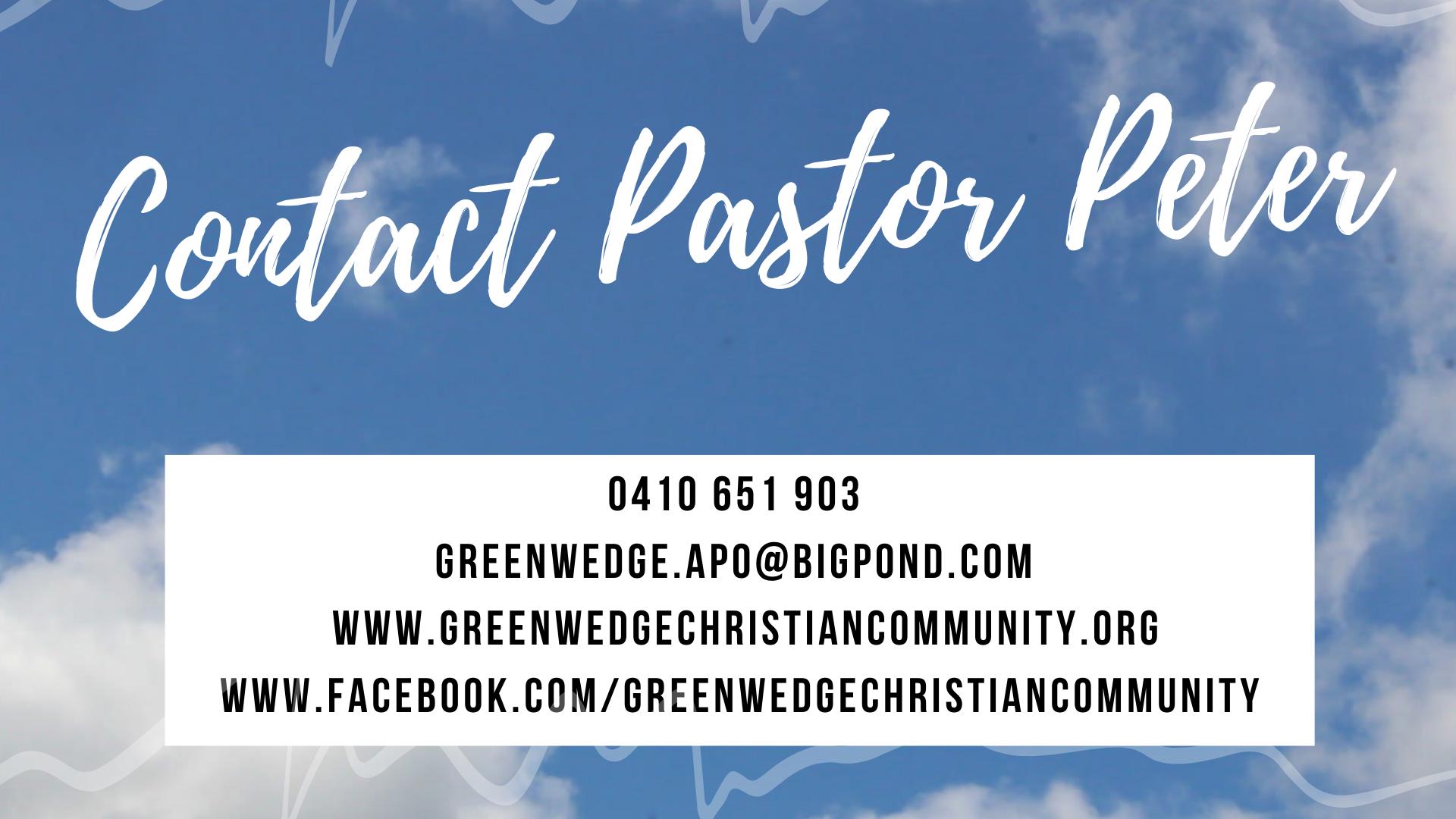 Contact Pastor Peter