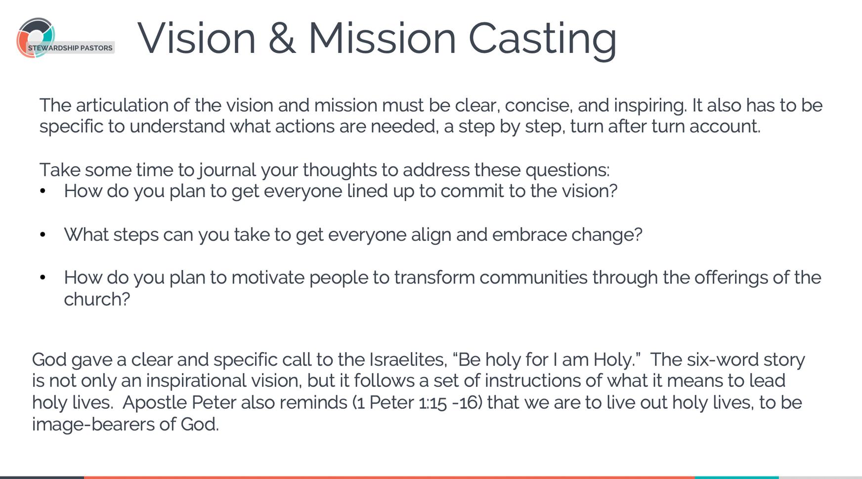 Vision & Mission Casting