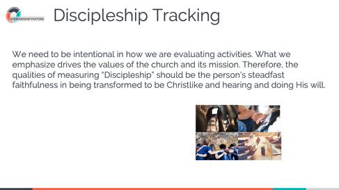 Discipleship Tracking