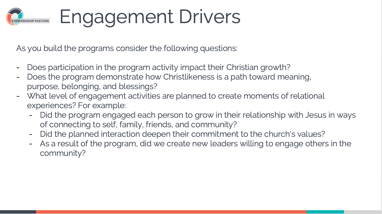 Engagement Drivers