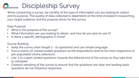 Discipleship Survey