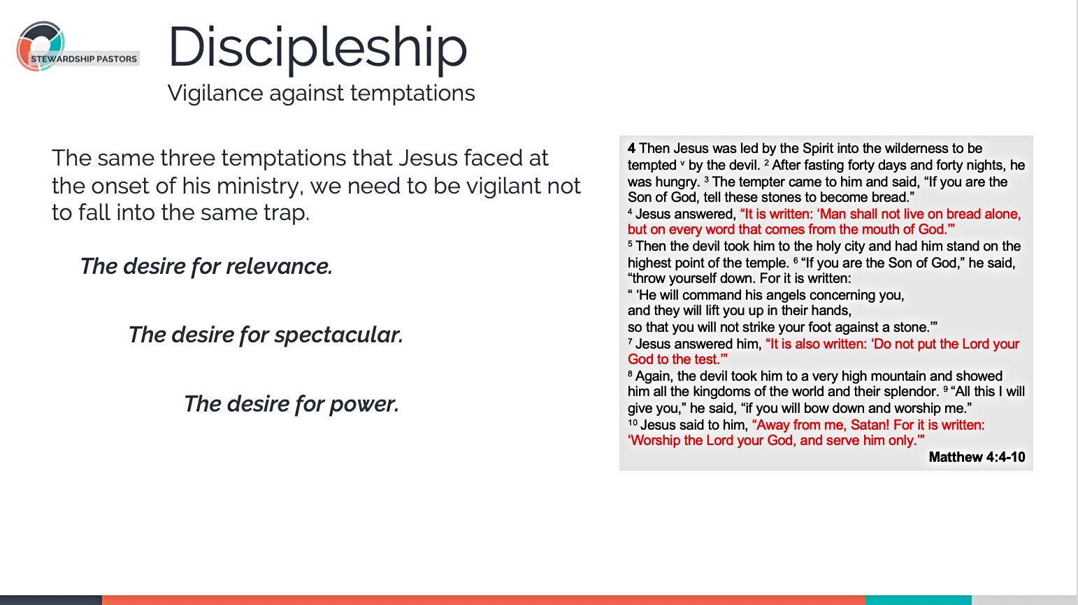 Vigilance against Temptation