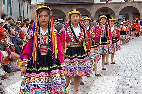 インディヘナ インカ 祭り 民族衣装 クスコ ペルー 世界遺産