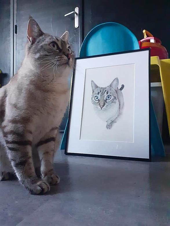 Loba et son portrait