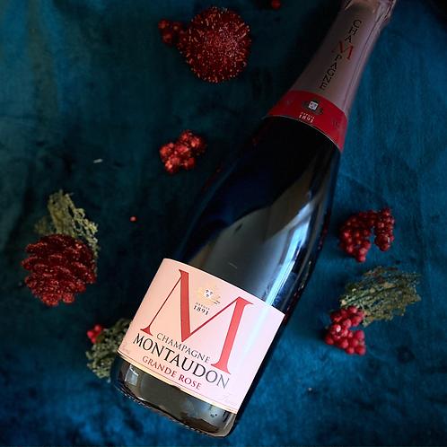 3 Bottles Champagne Montaudon Grande Rose