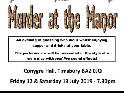 12th & 13th July - Murder at the Manor