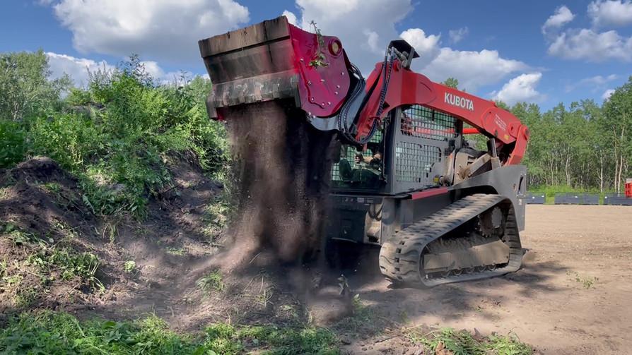 skid steer soil screener