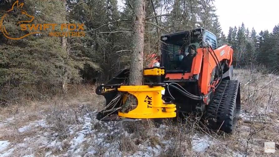 skid steer tree shear