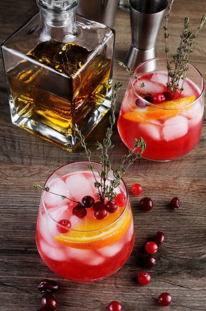 Cocktail Cranberry Orange Bourbon Smash