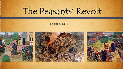 the peasants revolt in england 1381 essay A summary of the peasants' revolt the peasants' revolt started in essex on 30 may 1381, when a tax collector tried, for the third time in four years, to levy a poll tax.