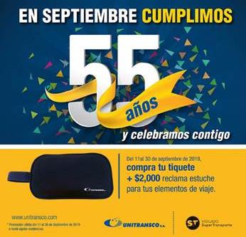 CAMPAÑA ANIVERSARIO UNITRANSCO 55 AÑOS