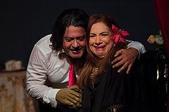Francis Cruz y Elvira Taveras en EL BANQUETE de Rafael Morla