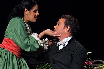 Luvil González y Fausto Rojas, teatro