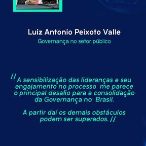 Luiz Antonio fala do desafio para a consolidação da governança no Brasil