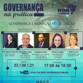"""RGB debaterá o tema """"Governança e Inovação no Século XXI"""" nesta segunda-feira"""