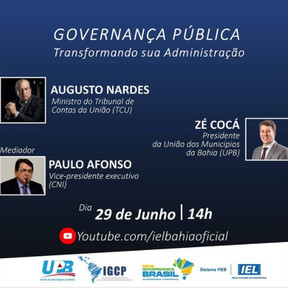 RGB falará sobre governança municipal em evento na Bahia