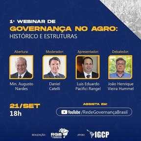 RGB promove debate sobre governança na agropecuária nesta terça-feira